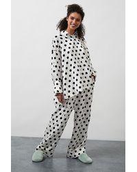 Sleeper Ensemble pyjama à pois - Noir