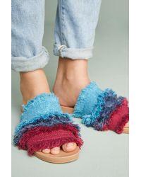 Bill Blass - Megan Frayed Slide Sandals - Lyst