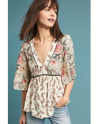 Anthropologie - Bisbee Floral Blouse - Lyst