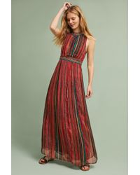 Bl-nk - Artista Maxi Dress, Red - Lyst