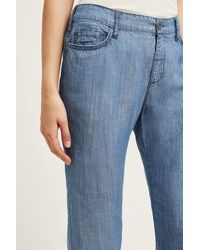 Pilcro - High-rise Chambray Trousers - Lyst