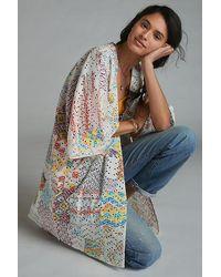 Anthropologie Rayne Eyelet Kimono - Multicolour