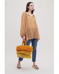 Anthropologie - Fauve Printed Blouse - Lyst