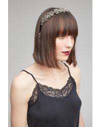 Anthropologie Belle Floral Headband - Metallic