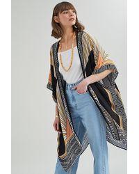 Bl-nk Geo-print Kimono Jacket - Multicolour