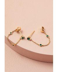 Anthropologie Chain Drop Earrings - Metallic