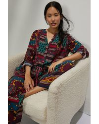 Anthropologie Whimsy Flannel Sleep Top - Multicolour