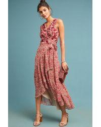 a292db8d003eb Fiona Embroidered Maxi Dress. $228. Anthropologie · Ranna Gill - Beaded  Wrap Dress - Lyst