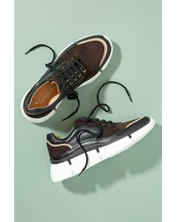 Anthropologie Charlie Leather And Suede Trainers - Black
