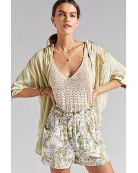 Anthropologie Francine Floral Paperbag Shorts - Multicolour
