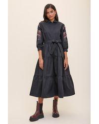 Tallulah & Hope Zip Midi Dress - Black