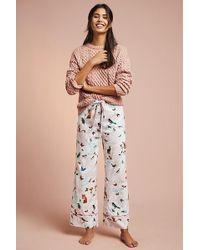 Anthropologie - Daina Printed-flannel Sleep Trousers - Lyst