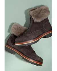 Kanna - Arina Faux Fur-lined Suede Boots - Lyst