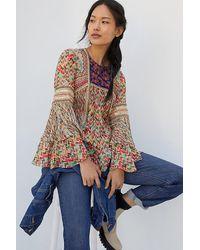 Bhanuni by Jyoti Kelton Embroidered Blouse - Multicolour