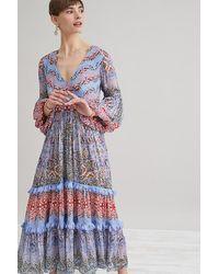 Bhanuni by Jyoti Ruffled Midi Dress - Multicolour