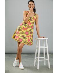 Anthropologie Eliska Embroidered Mini Dress - Yellow