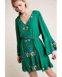 a3227acb7911 FARM Rio - Embroidered Shirtdress - Lyst