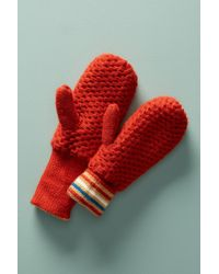 Anthropologie - Stripe-trimmed Mittens - Lyst