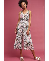 Tracy Reese - Gwyneth Floral Jumpsuit, Pink - Lyst