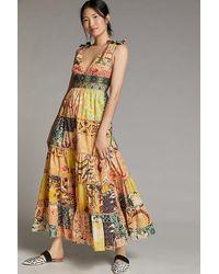 Geisha Designs Rosalinda Patchwork Maxi Dress - Pink