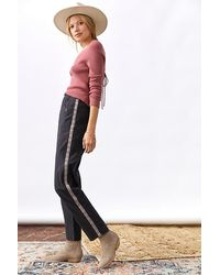 Anthropologie Slim Tapered Trousers - Black