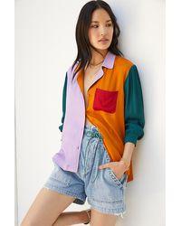FARM Rio Puff-sleeved Buttondown Shirt - Multicolour