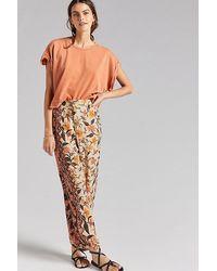 Anthropologie Greta Smocked Balloon-leg Trousers - Multicolour