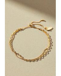 Anthropologie Bracelet en chaînes superposées - Métallisé