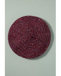 Anthropologie Carrie Flecked Beret - Red