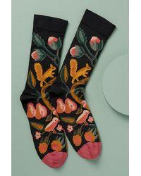 Bonne Maison Woodland-print Ankle Socks - Multicolour