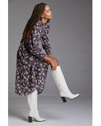 Anthropologie Knee-high Heeled Boots - White