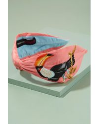 Anthropologie - Lisa Toucan-embroidered Headband - Lyst