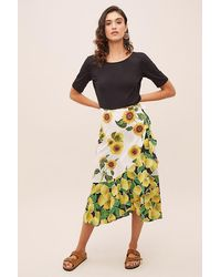 how to buy boy quality Forever 21 Contemporary Mixed Print Maxi Skirt in Navy/Blue ...
