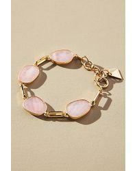 Anthropologie Bracelet orné de pierres - Rose