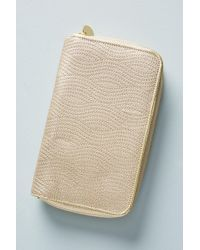Anthropologie - Stitched Family Passport Holder Stitched Jewellery Organiser Stitched Travel Carry-all - Lyst