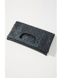 Deux Lux - Cara Woven Foldover Clutch - Lyst