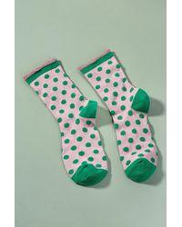 Becksöndergaard - Dory Metallic Polka-dot Socks - Lyst