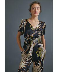 Anthropologie Jasmine Palm-printed Jumpsuit - Multicolour