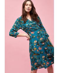 Bl-nk - Lilly Printed-wrap Dress - Lyst