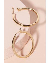 Anthropologie Romia Hoop Earrings - Metallic