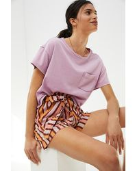 Anthropologie Betty Striped Belted Shorts - Multicolour