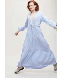 Anthropologie - Project Aj117 Tara Striped-tasselled Maxi Dress - Lyst