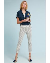 Anthropologie - The Essential Striped Slim Trousers - Lyst