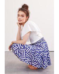 Maeve Ruffled A-line Mini Skirt - Orange