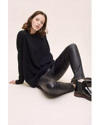 Anthropologie Pantalon en cuir veganu00a0Rossy - Noir