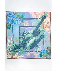 Becksöndergaard Turtle Sico Silk Scarf - Blue