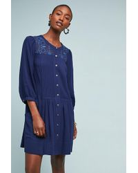 Anthropologie - Haylia Embroidered-pleated Tunic - Lyst