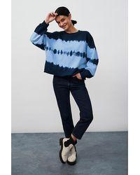 Anthropologie Nia Tie-dye Cropped Sweatshirt - Blue