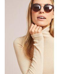07ad6997f8f Lyst - Ett Twa Barnet Sunglasses in Metallic