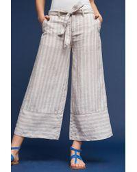 Marrakech - Eliana Linen Cropped Wide-legs - Lyst